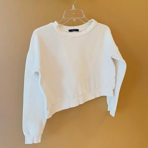 Forever21 cream crop top size M